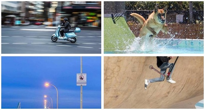 Photography Challenge 88: Shutter Speed Montage